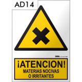 Señal de advertencia AD14