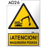 Señal de advertencia AD26