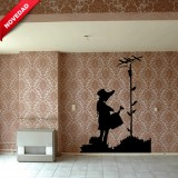 Vinilo Banksy Girl-With-Watering-Can