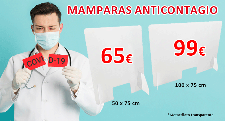 MAMPARAS ANTICONTAGIO COVID-19